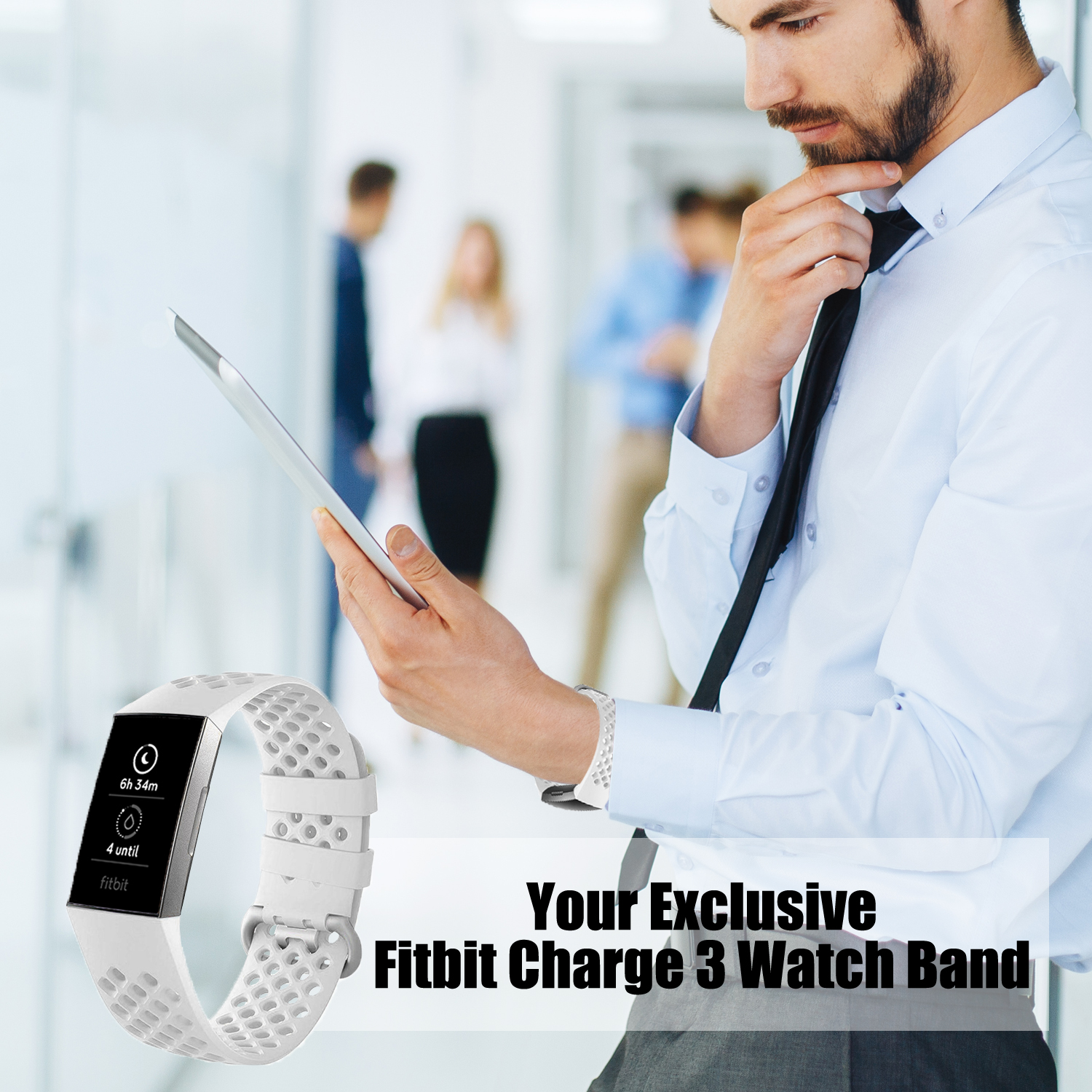 Soft Sports Bands for Fitbit Charge 3/ Charge 3 SE