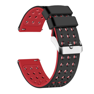 Silicone Quick Release Straps - 18mm (Black/Red)