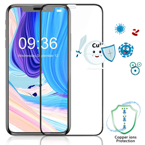 [Medical-Grade Antibacterial] Tempered Glass Film Compatible with iPhone X/Xs/11/Xr/11pro/11pro max/XS Max,HD Anti-Fingerprint Anti-Glare Screen Protector